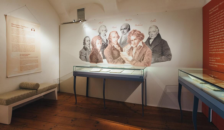 Dauerausstellung im Haydn-Haus Eisenstadt, Foto: © Nicole Heiling
